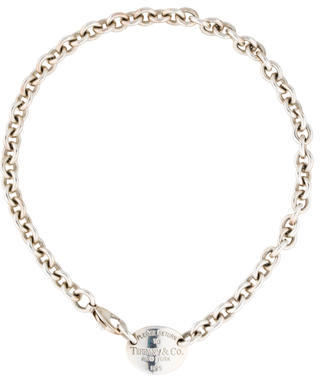 Tiffany & Co. Return to Tiffany Oval Tag Necklace $225 thestylecure.com