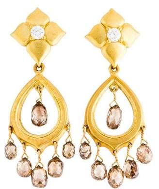 Paul Morelli 18K Diamond & Smoky Quartz Drop Earring