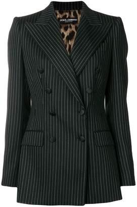 Dolce & Gabbana pinstripe double-breasted blazer