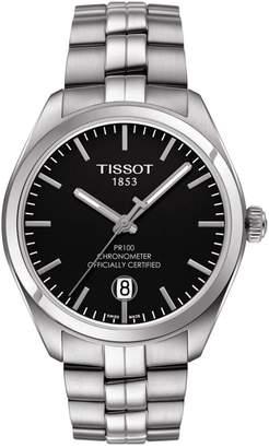 Tissot PR 100 COSC Black Dial Stainless Steel Watch
