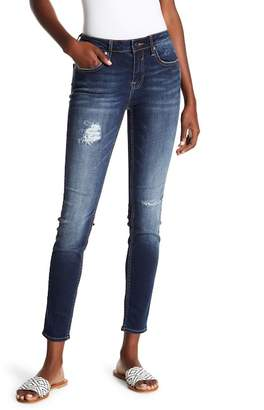 Vigoss Dark Wash Distressed Slim Fit Jeans
