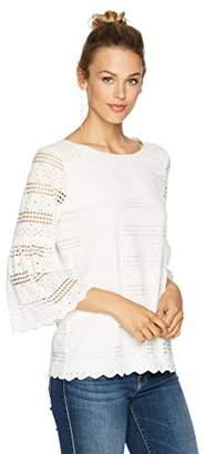 Ella Moon Women's Kenna Long Bell Sleeve Lace Top