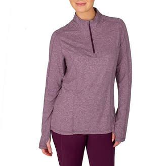 Jockey Womens High Neck Long Sleeve Quarter-Zip Pullover