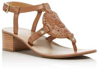 Jack Rogers Women's Gretchen Leather Block Heel Sandals