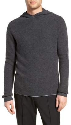 Vince Thermal Knit Cashmere Hooded Sweater