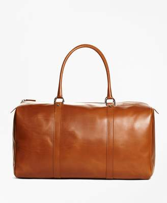 Brooks Brothers Vegetable Tan Leather Duffle Bag
