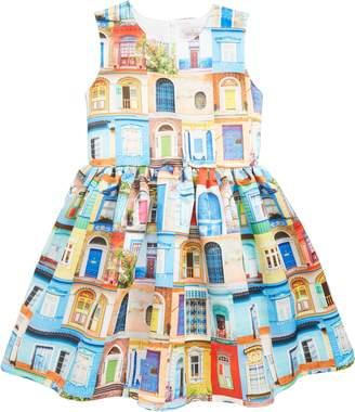 Halabaloo Doors & Windows Print Dress