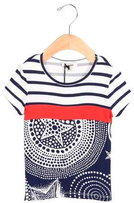 Junior Gaultier Girls' Printed Short Sleeve Top w/ Tags