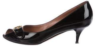 Giuseppe Zanotti Patent Leather Peep-Toe Pumps