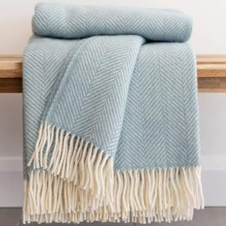 Tom Lane Herringbone Wool Throw