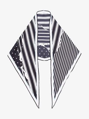 Haider Ackermann Striped and polka dot scarf