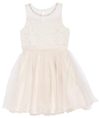 Blush by Us Angels Lace Bodice Tulle Dress