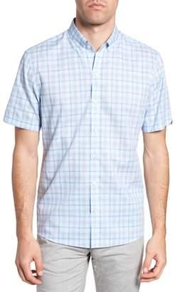 Zachary Prell Kin Trim Fit Grid Plaid Sport Shirt