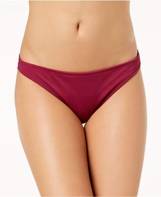 California Waves Juniors' Ribbed Bikini Bottoms, Created for Macy's Women's Swimsuit