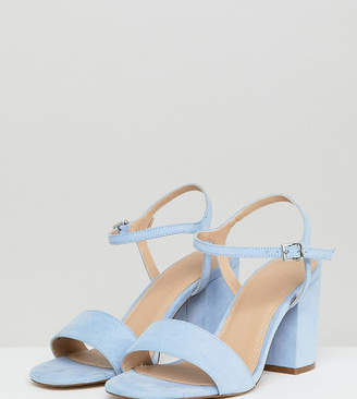 Asos DESIGN Winter Extra Wide Fit Block Heeled Sandals