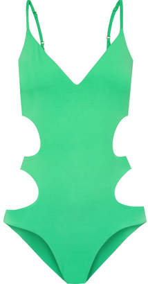 Melissa Odabash Santorini Cutout Swimsuit - Green