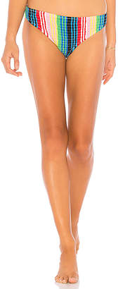 Diane von Furstenberg Smocked Cheeky Bikini Bottom