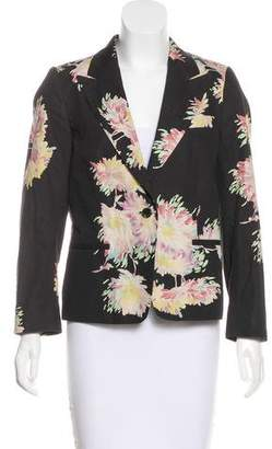 Dries Van Noten Floral Structured Blazer