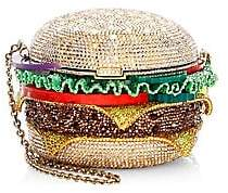 Judith Leiber Couture Couture Women's Crystal Hamburger Clutch