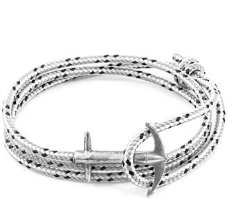Anchor And Crew Admiral Silver & Rope Bracelet