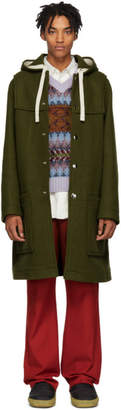 Acne Studios Green Wool Duffle Coat