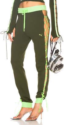 FENTY PUMA by Rihanna Laced Sweatpants in Rifle Green | FWRD