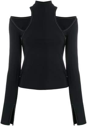 Beaufille cut-out shoulders blouse