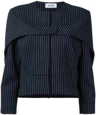 Courreges press stud pinstripe jacket