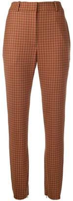 Zimmermann tapered tartan trousers