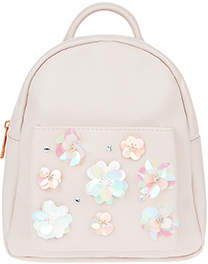 Monsoon Sequin Flower Mini Backpack