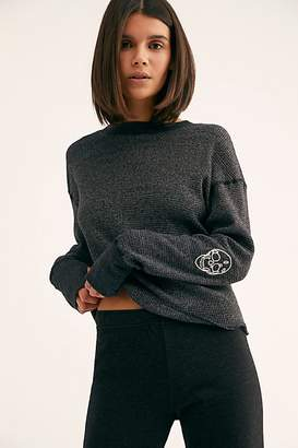 Monrow High-Neck Sweatshirt With Skull Embroidery