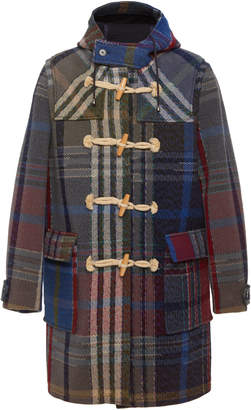 Missoni Hooded Checked Wool Duffle Coat