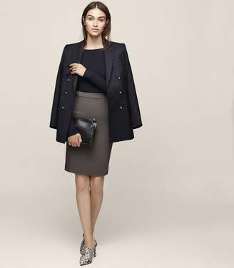 Reiss Lory Knee Length Pencil Skirt