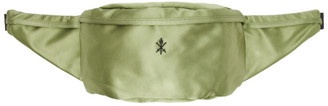 Opening Ceremony Green Satin Classic Fanny Pack