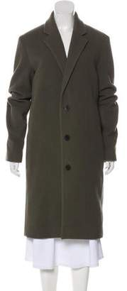 Vince Notched-Lapel Structured Peacoat