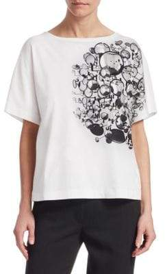 Akris Punto Boatneck Graphic T-Shirt
