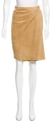 Ralph Lauren Black Label Suede Wrap Skirt w/ Tags