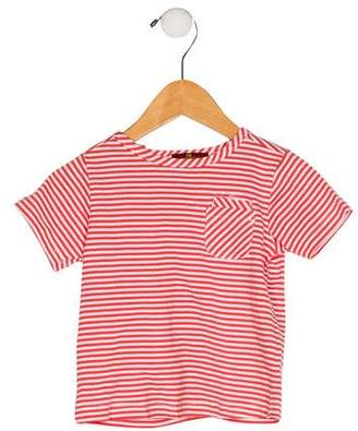 7 For All Mankind Seven Girls' Stripe Short Sleeve Top