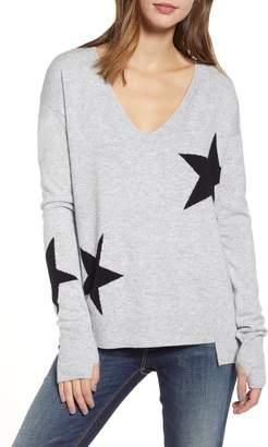 Pam & Gela Star Intarsia V-Neck Sweater