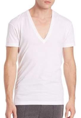 2xist Men's Pima Cotton Slim-Fit V-Neck Tee - White - Size S