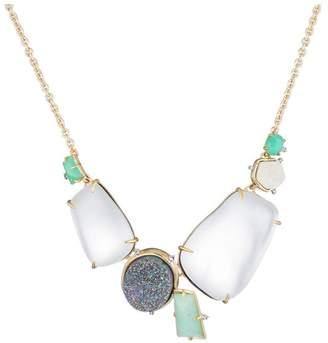 Alexis Bittar Druzy Stone Cluster Bib Necklace