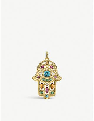 Thomas Sabo Hand of Fatima 18ct yellow gold-plated pendant