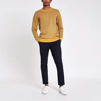 River Island Pepe Jeans yellow print jumper