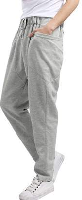 Unique Bargains Men's Jogger Sweatpants Double Pocket Drawstring Harem Casual Pants