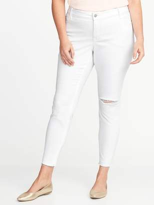 Old Navy High-Rise Secret-Slim Pockets Plus-Size Distressed Rockstar Ankle Jeans