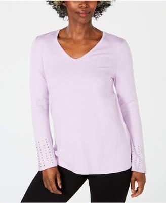 JM Collection Embellished-Sleeve Sweater