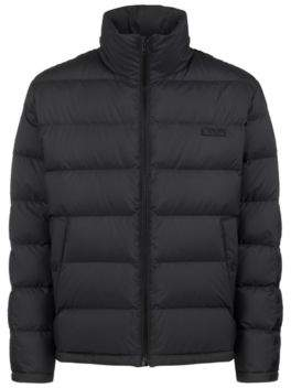 HUGO Boss Water-repellent down jacket logo-tape detailing S Black