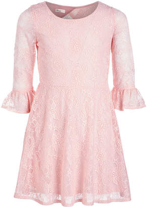 Epic Threads Big Girls Lace Bell Sleeve Drop Waist Dress, Created for Macy's