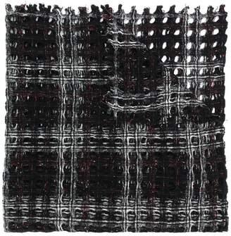 Faliero Sarti checked knit scarf