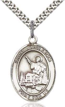 St. John All Souls Sterling Silver Licci Pendant - Head Injuries 1 x 3/4